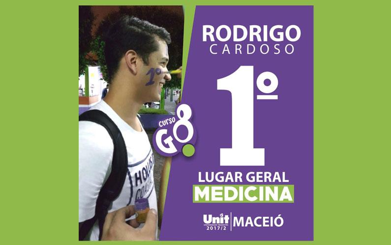 Rodrigo Cardoso: 1° Lugar Geral Medicina Unit – Maceió