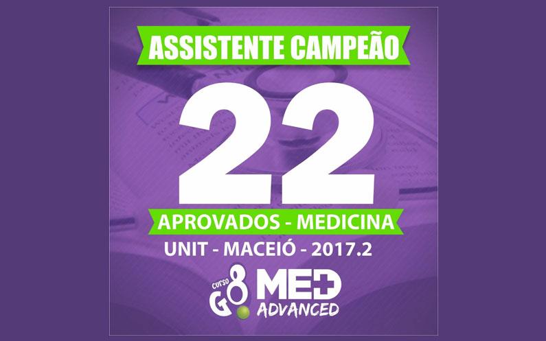 Assistente Campeão! 22 Aprovados em Medicina Unit – Maceió – 2017.2