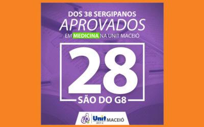 Dos 38 Sergipanos aprovados em medicina na Unit Maceió, 28 são do G8