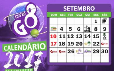 Calendário 2017 2° Semestre – Setembro