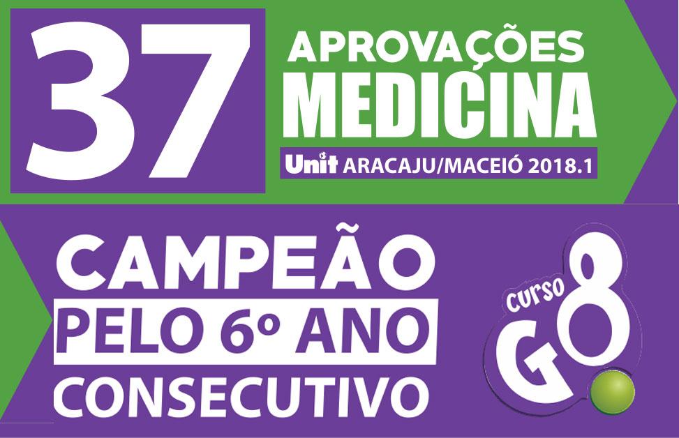 37 Aprovações em Medicina UNIT Aracaju/Maceió 2018.1