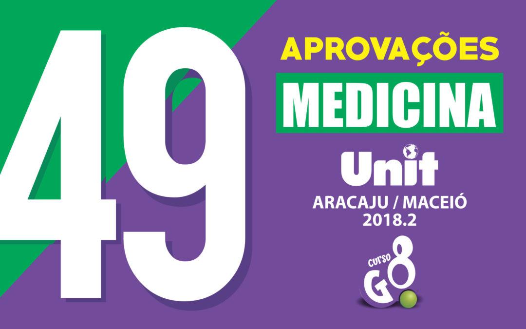 49 Aprovações em Medicina na UNIT